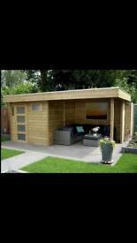 Summer house office outdoor living
