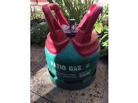 Full patio gas bottle