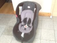 Britax First Class Plus group 0+1 car seat for newborn upto 18kg(to 4yrs)rear &forward facing,washed