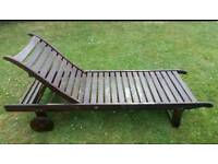 Hardwood Garden Lounger made by ScanCom