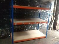 JOB LOT 10 bays RAPID 1 industrial longspan shelving 2.4 high. ( storage , pallet racking )