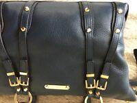 Genuine Michael Kors navy leather bag