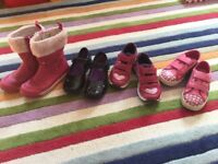Girls clarks shoes/ boots/ trainers size 9.5 F
