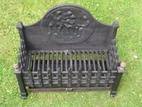 beautiful cast iron fire basket - fire grate and ash box