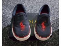 RALPH LAUREN - Designer Canvas Shoes - Size 6.5 - AS NEW