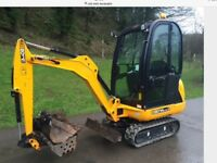 Mini digger hire and groundworks
