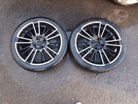 4 225/40/18 alloy wheels and tyres £80