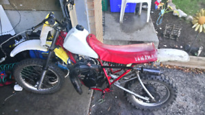 1982 yamaha yz80 as is trade for a pit bike or Honda 50