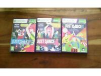Just dance 3,4 2015 xbox 360 kinect games