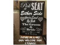 Wedding sign for mr and mrs gray!