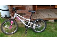 Girls bike, suitable for 8yrs.