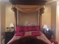 Half tester Victorian bed