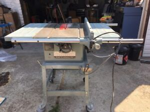 """Delta 10"""" tablesaw and stand"""