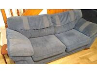 Three Piece Suite for Sale. One three-seater sofa, one two-seater sofa and one armchair.