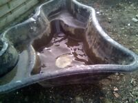 Fish pond 6ft by5ft in good condition. £4.