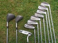 Simmons .Tiger-Shark 7 Irons, 2 Fairway Woods, Putter and BAG.