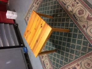 Oak side table solid wood