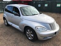 Chrysler PT Cruiser Limited 1995cc Petrol 5 speed Manual 5 door hatchback 03 Plate 01/05/2003 Silver