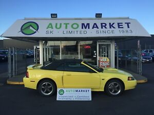 2001 Ford Mustang GT Deluxe Convertible Leather! Warranty!