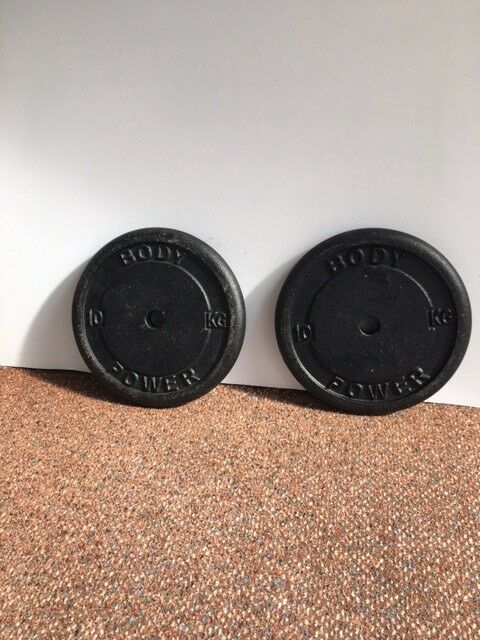 Body Power cast iron 10KG Weights plates x2