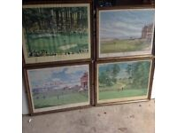 4 limited edition golf prints by Arthur Weaver.
