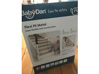 BabyDan flexi fit metal baby stair gate - brand new - not opened - didn't fit our weird stairs