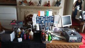 Full set up of tattoo equipment