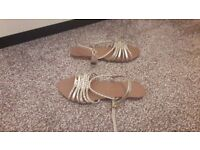 Gold sandals brand new with tags size UK 6