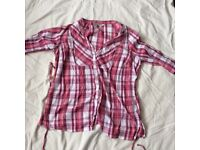 Size 20 pink cheques shirt