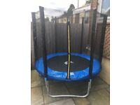 6ft Trampoline with Safety Enclosure, Ladder & Rain Cover- Used Twice