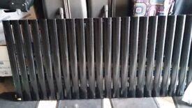 Black Single Radiator 144 long x 600 high