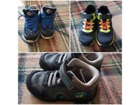 3 pairs of boys shoes/boots size 8 or 8.5 (see description for details) £5 each