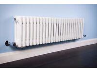 NEW WärmeHaus Bern 300x1190mm White Triple Horizontal Column Radiator