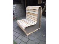 Rustic chair pallet wood