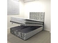 Double king size Ottoman Crush Velvet Bed*Free Delivery**
