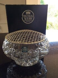 Crystal rose bowl, brand new in box.