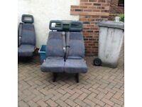 LDV convoy minibus seats with seat belts