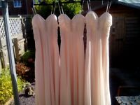 Lovely pale pink bridesmaid/prom dress with diamante detail to front