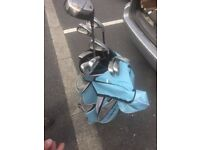 Full set of Yonex golf clubs and bag