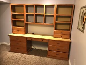 Custom made children's combination desk/dresser/wall unit