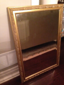 Large Mirror Wall Mirror Gold Trim Frame Hang Framed See Your Lg