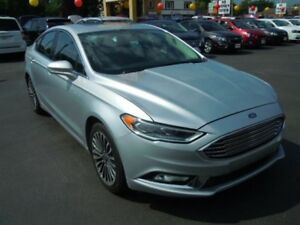 2017 FORD FUSION SE- POWER GLASS SUNROOF, NAVIGATION SYSTEM, LEA