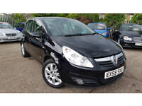 2009 VAUXHALL CORSA DESIGN 5 DOOR 1.4 PETROL,LOW MILEAGE,HALF LEATHER,VERY GOOD COND.