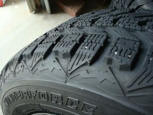 4-WINTERFORCE- 195-65-R15-TREAD REMAINING---  50-65%