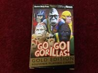 Brand new sealed rare GO GO GORILLA playing cards - only £10!