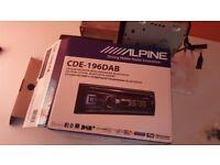 Alpine CD DAB Car Radio (CDE - 196DAB)