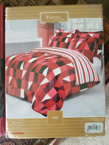 Double bed duvet and pillow cover