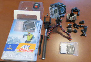 4K Action Cam with accessories