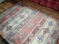 Pink/blue M&S brand new 100% wool rug