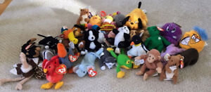 20+ Assorted Teenie Beanie Babies & Other Small Stuffies